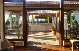 oranżeria wejście  z ogrodu